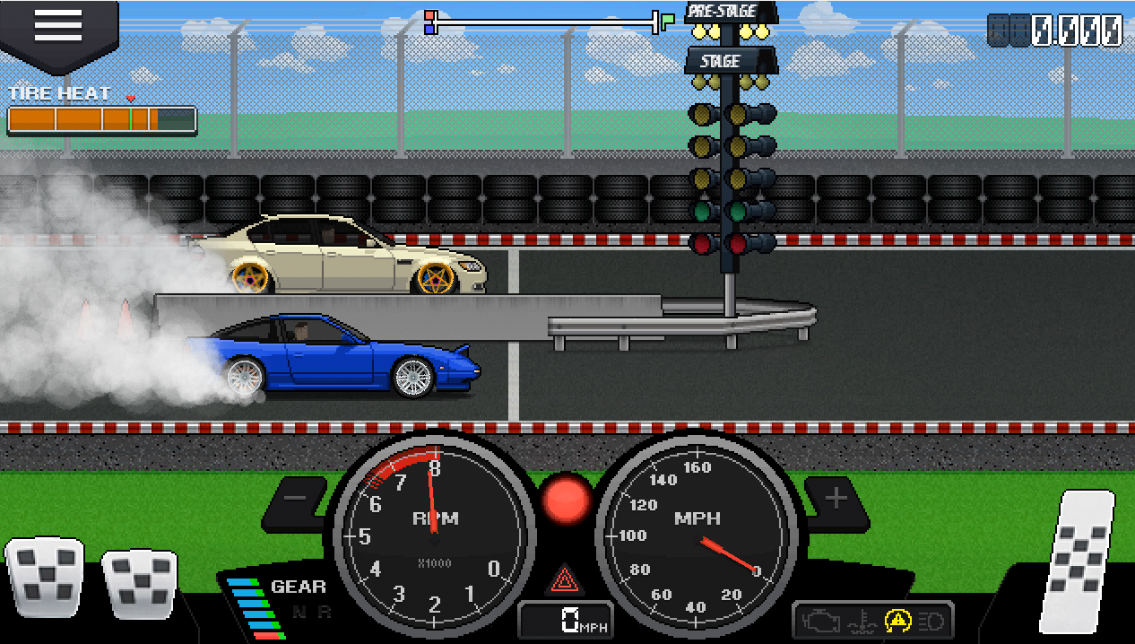 Car Sound Effects >> Pixel Car Racer: Review - Detailed 2D Car Racing